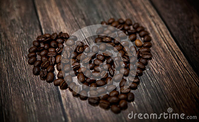 Fragrant coffee heart