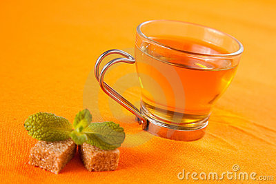 Fragrant mint teaA