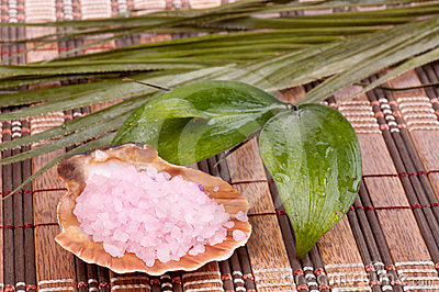 Fragrant salt and leaves