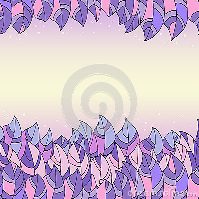Frame of abstract purple leaves