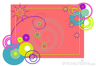 The frame of abstract shapes. Vectors illustration