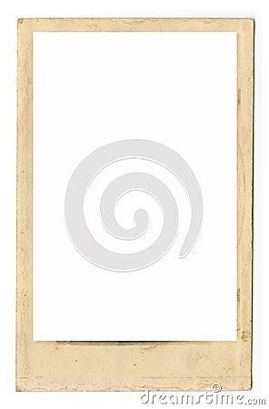 Frame antigo sujo da foto