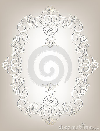 Frame in the Art Nouveau style