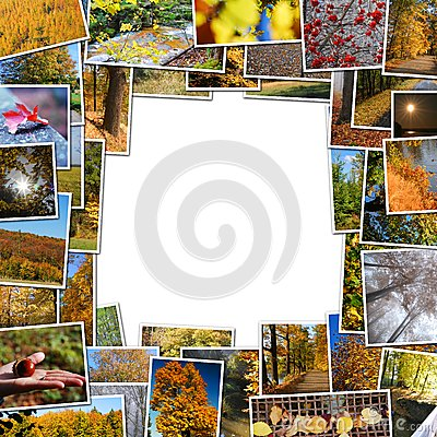 Frame of autumn photos