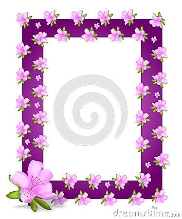 Frame with azaleas, cdr vector