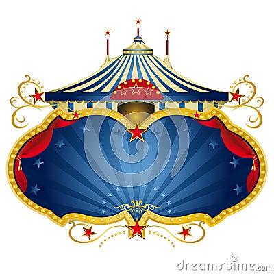 Frame azul mágico do circo