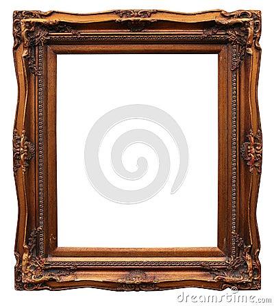 Frame from baguette on white