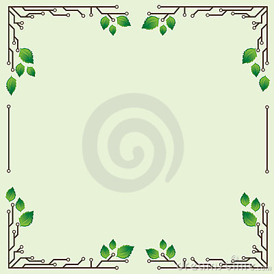 Frame with birch leaves