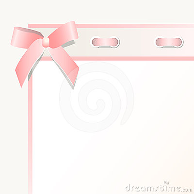 Frame with a bow
