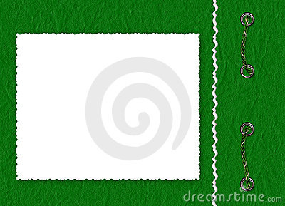 Frame with braid the green background