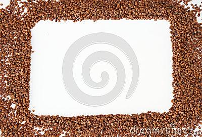 Frame made of buckwheat