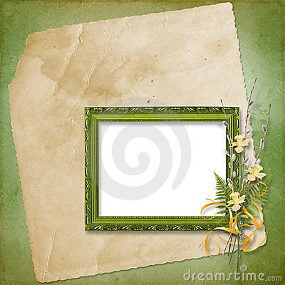 Frame with bunch of willow