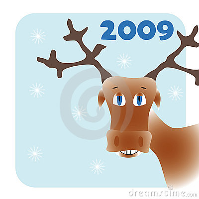 Frame with cartoon deer