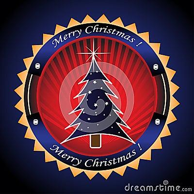 Frame with Christmas tree