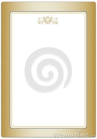 Frame clássico dourado
