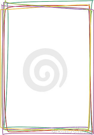 Frame with colored lines