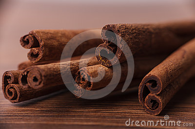 Frame composition of spices on wood