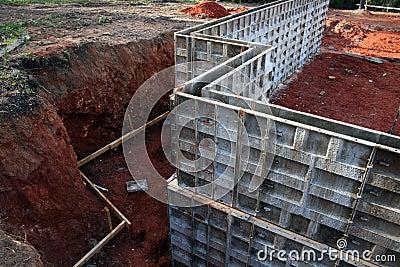 Frame for Concrete Basement Wa