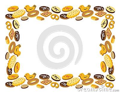 Frame of cookies