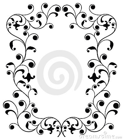 Frame with curls, border, vector