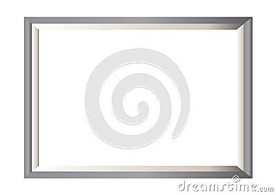 Frame da foto do metal mínimo