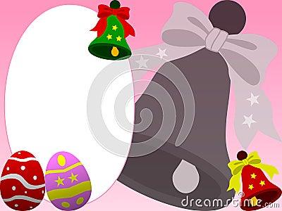 Frame da foto - Easter [cor-de-rosa]