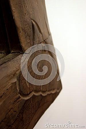 Frame de madeira envelhecido