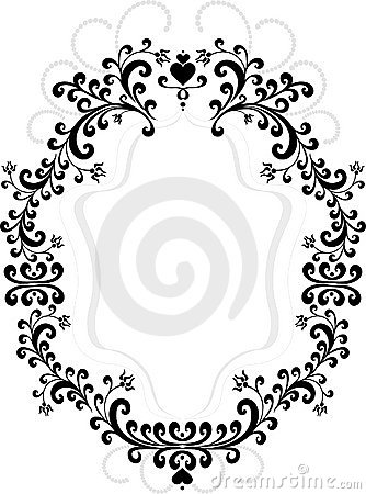 Frame of decorative ornament.  Graphic arts.