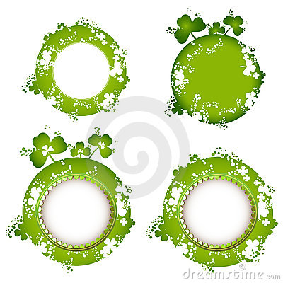 Free Frame Design With Clover Stock Photography - 18617762