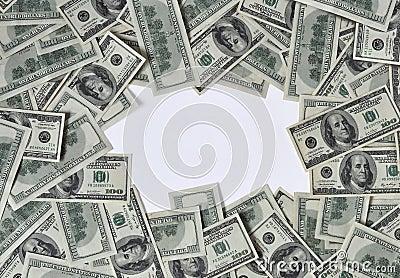 Frame of dollars