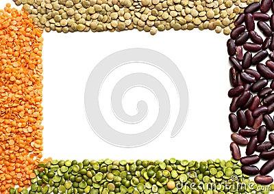 Frame dried beans