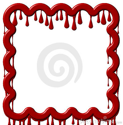 Frame Dripping Red Paint