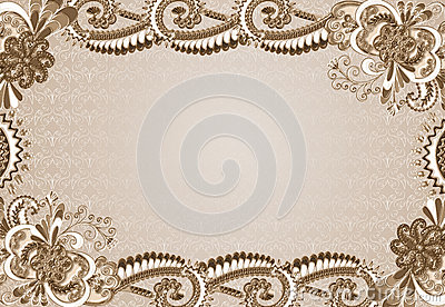 Frame with an embossed pattern in the rococo style stock illustration - Frame With An Embossed Pattern In The Rococo Style Stock