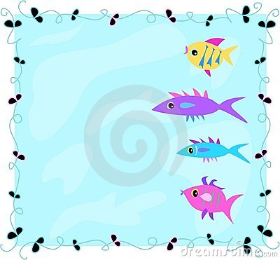 Frame of Fish in Water