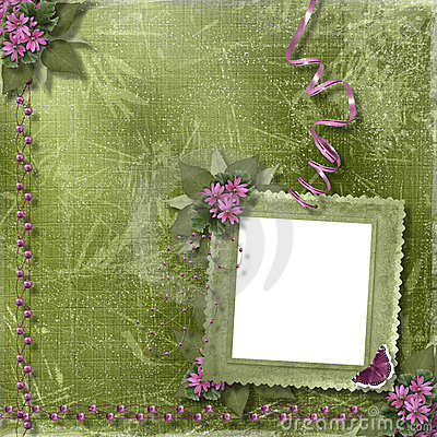frame and floral beautiful bouque