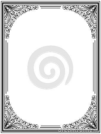 Frame floral do vintage