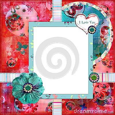 Frame floral gasto da foto