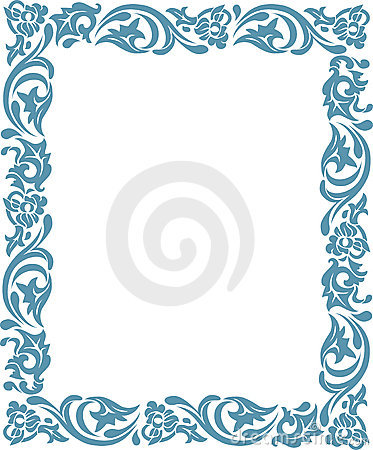 Frame with floral ornaments