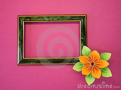 Frame and flower