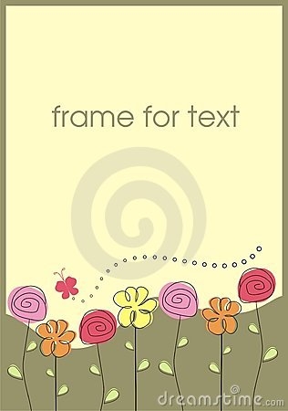 Free Frame Flowers Stock Photo - 12851060