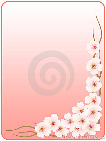 Frame_flowers of a cherry_pink