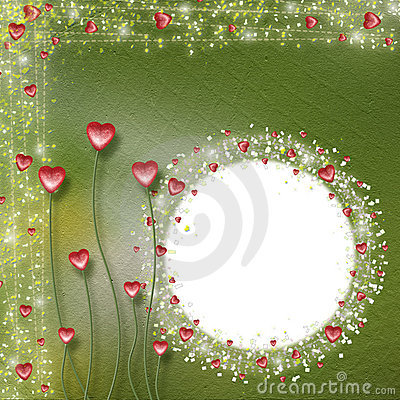 Free Frame For Photos With Hearts Royalty Free Stock Photos - 9945178