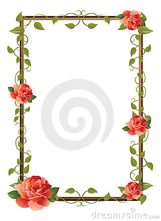 Free Frame For Picture With Rose Stock Photo - 9664740