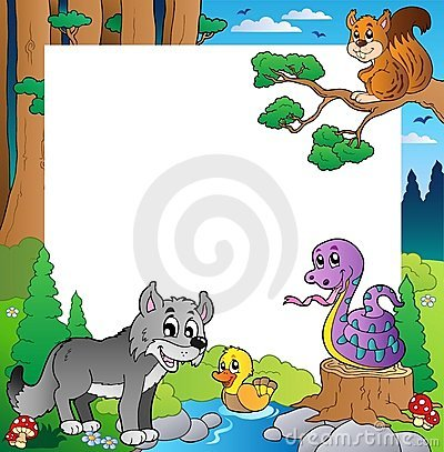 Frame With Forest Theme 3 Stock Image - Image: 20005431