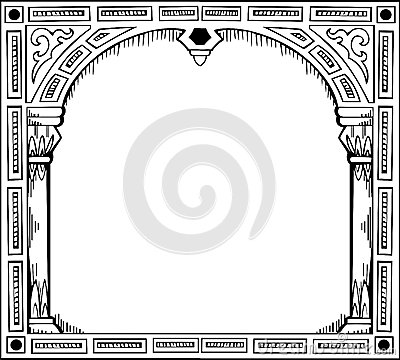 Frame in form of gate