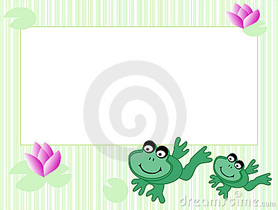Frame With Frogs Stock Photography - Image: 11137262