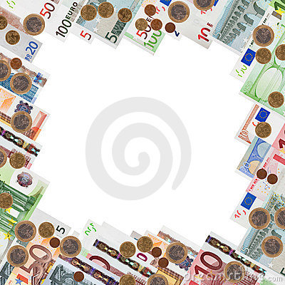 Free Frame From Many Euro Banknotes Royalty Free Stock Image - 20013586