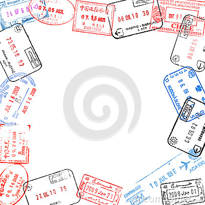 Free Frame From Passport Visa Stamps Stock Photography - 31685492