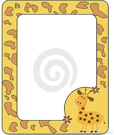 Frame with giraffe.
