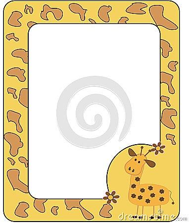 Frame with giraffe.